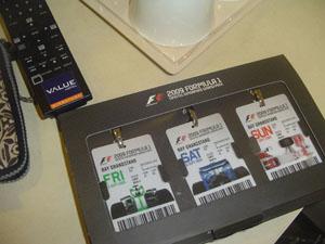 Tiket F1 GP Singapore 2009