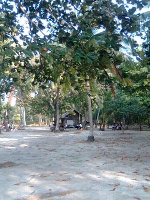 Pasir putih Pulau Liwungan