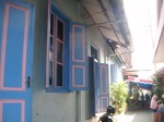 Colourful, interesting old houses in the Kauman area. This is where many followers of Muhammadiyah, one of the two biggest Muslim organisations in Indonesia, reside.