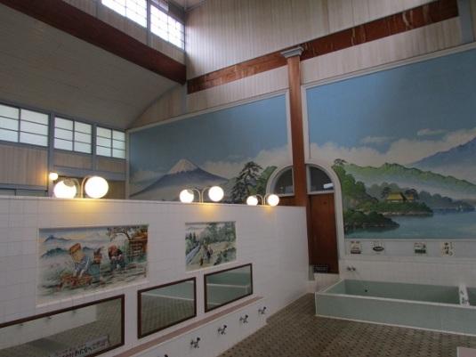 Bagian dalam Kodakara-yu. Pedekah Anda mandi bareng di pemandian seperti ini? (^__^)