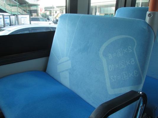 Hayo, gambar di pelapis bantalan kursi itu menunjukkan alat Doraemon yang mana saja?